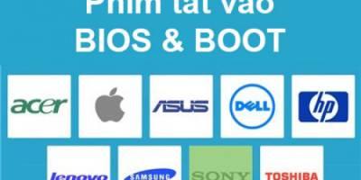 Cách truy cập BIOS máy tính, Laptop tất cả các háng