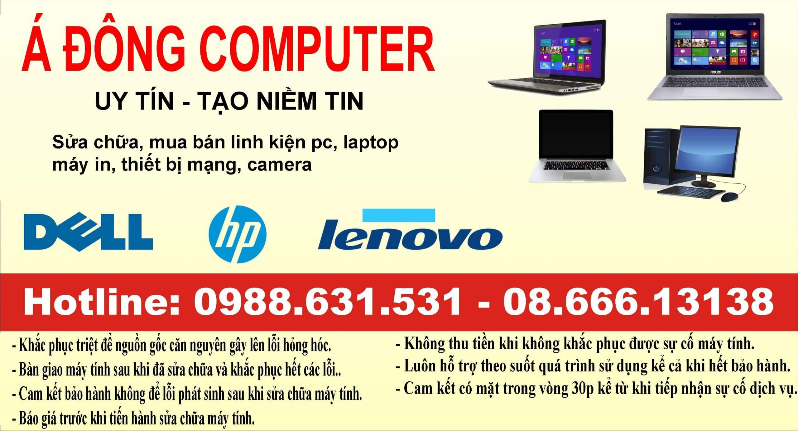 Dịch vụ sửa máy tính tại Nguyễn Chí Thanh Uy tín