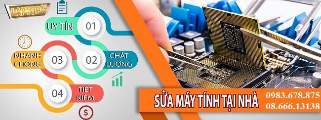 Quy trình sửa máy tính tại nhà Nguyễn Khuyến